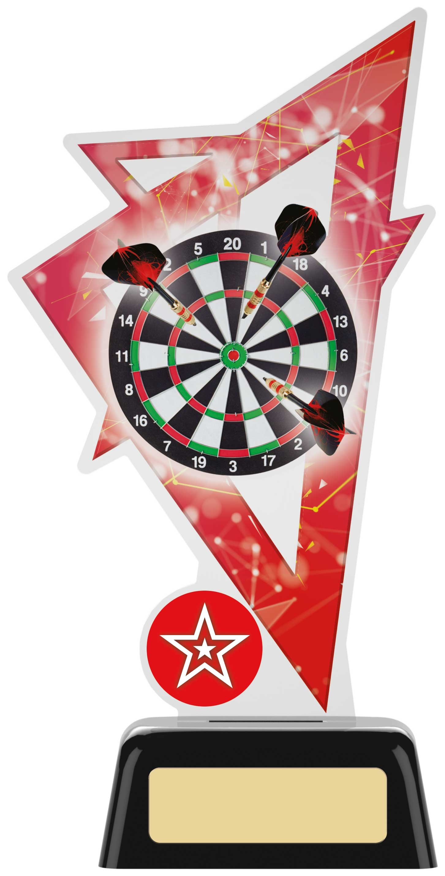 "7.5"" DARTS ACRYLIC AWARD"