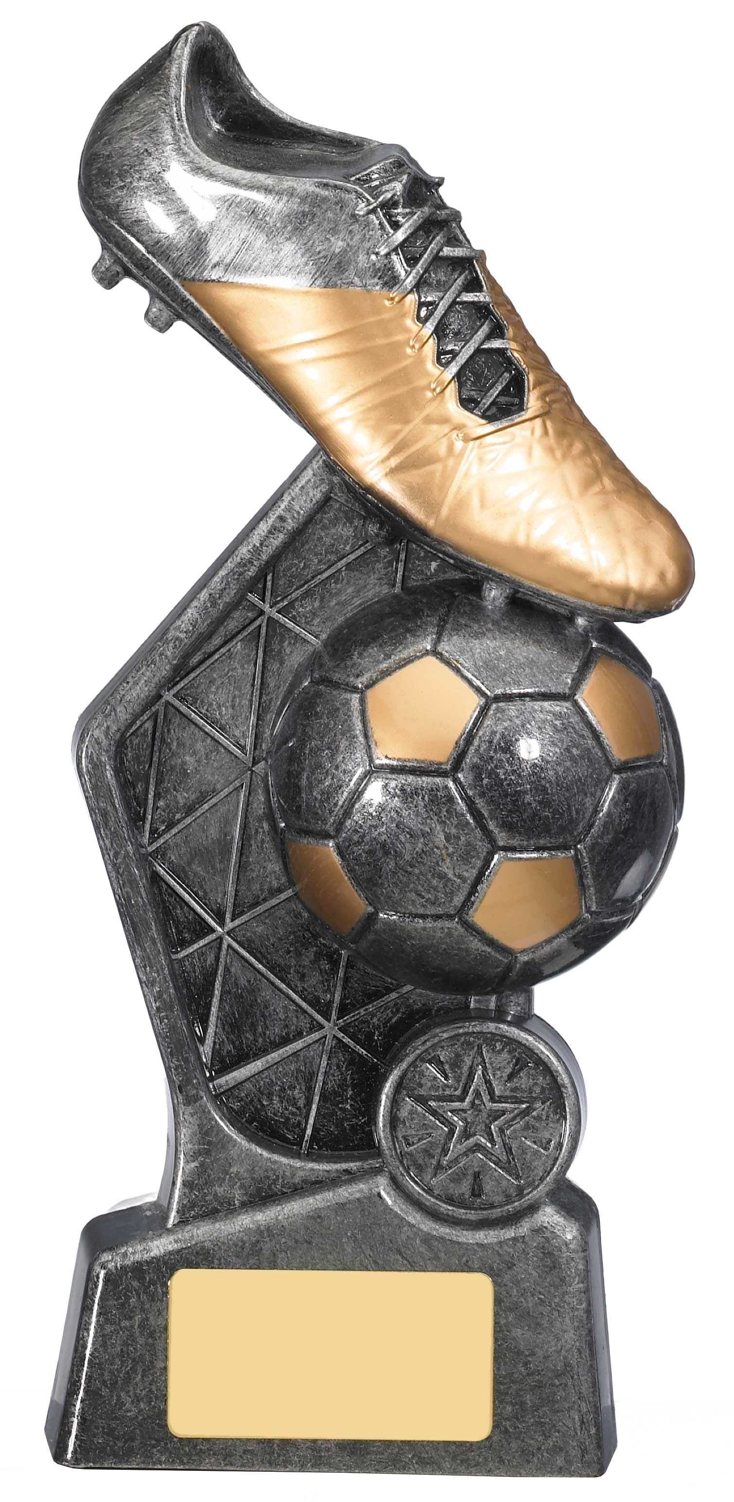 "8.75"" HEX FOOTBALL TROPHY"